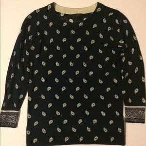 JCrew Bandana Print Tippi Sweater